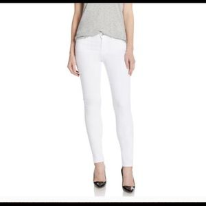 7 For all Mankind white skinny jeans size 30